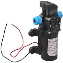 Vktech® DC 12V 60W Alta Presión Micro Bomba de Diafragma automático Interruptor 5L/min (Negro)