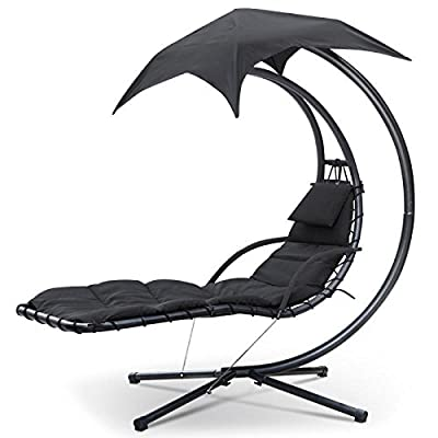 chinkyboo Helicopter Sun Lounger, Swing Chair, Hammock, Rocker Garden Patio Pool Furniture Black produced by chinkyboo - quick delivery from UK.