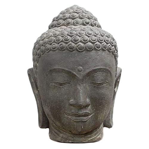 Oriental Galerie Buddha Kopf Head Figur Steinfigur Skulptur Bali Garten 53cm