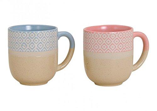 2er Set Tassen im Landhausstil, 2 Farben