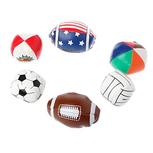 Senoow Kleinkind Kinder Jungen Mädchen Handgriff Kunstleder Fußball Fußball Spielzeug Ball Set - Neuheit Fußball-bälle
