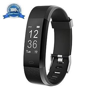 Pulsera Actividad HolyHigh YG3 Plus HR Monitor de ritmo cardíaco Seguimiento de actividad con impermeable/pedómetro/llamada Mensaje Alerta/monitor de sueño para Android e iOS (Negro)