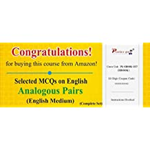 Practice Guru Selected MCQs on English: Analogous Pairs - Complete Set (Email Delivery in 2 Hours) (Activation Key Card)
