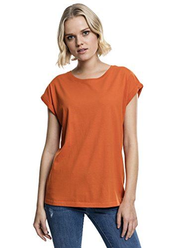 Urban Classics Damen T-Shirt Ladies Extended Shoulder Tee, Farbe Rust Orange, Größe XS