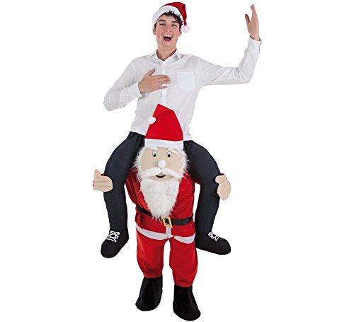 Imagen de disfraz de papa noel a hombros para adultos