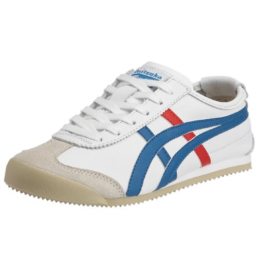 Onitsuka Tiger HL202 Mexico 66 Unisex Sneaker, Weiß (White/Blue/Red 0146), Gr. 42.5 EU / 8 UK