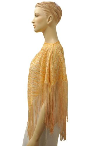 Missoni - Poncho - Semitrasparente -  donna Orange - Orangetöne