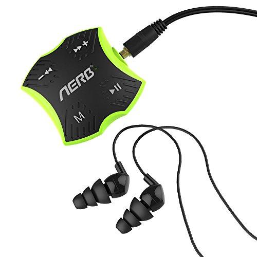Aerb Lecteur MP3 Waterproof 4GB pour Nager & autres Sports Vert