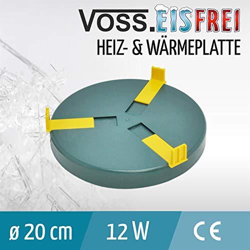 Heizplatte für Tränkenwärmer Tränkenheizung , 20cm, inkl. Netzteil 24V/ 12W - 2