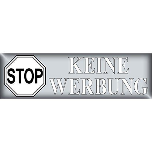 Preisvergleich Produktbild 100 Stück STOP KEINE WERBUNG Aufkleber Sticker Hinweis Briefkasten Briefkastenaufkleber