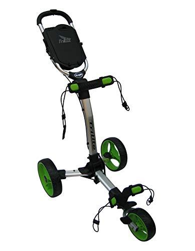 Axglo Trilite Chariot de Golf Mixte Adulte, Gris/Vert