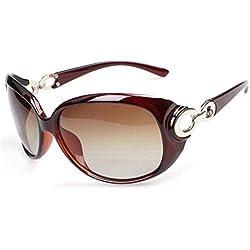 AULEI Damen Mode UV400 Sonnenbrille Retro Vintage Style Oversized Shades Brillen