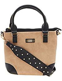 ESBEDA Beige Color Solid Pu Synthetic Material Handbag For Women