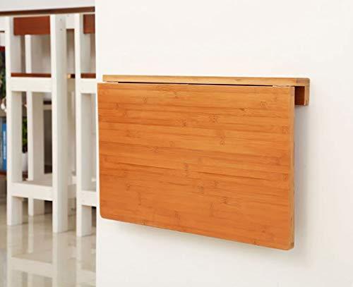 DX Dongy Klapptisch Klappbarer Bambus-Wandtisch Lerntisch Computertisch Wandtisch Klapptis