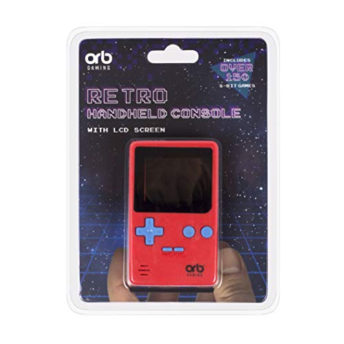 Orb Gaming OR-RETHC Thumbs Up ORB - Retro Console Handheld rot - inkl. 152x 8-Bit Spielen ThumbsUp, 1,8 Zoll (And Watch Game Nintendo)