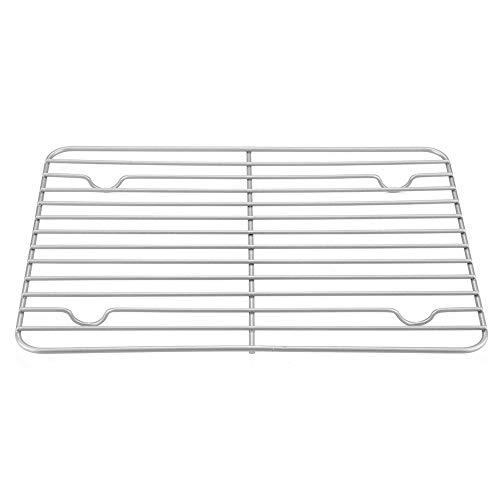 Kuchengitter, rechteckig Abkühlgitter antihaft Kühlgitter für Brot Kuchen Grill, 31 x 22,5cm