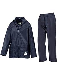 Result Waterproof Kids Jacket/Trouser Suit in Carry Bag Navy 5-6