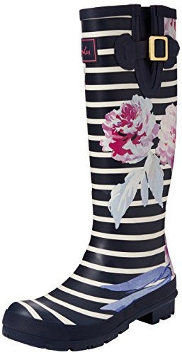 great fit f17f8 33341 Tom Joule Damen Wellyprint Gummistiefel, Grau Blau Navy ...