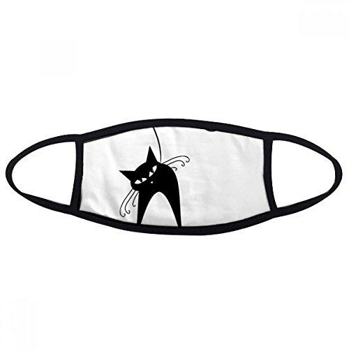 DIYthinker Halloween Schwarze Katzen-Liebhaber-Tierkunst-Silhouette Gesicht Anti-Staubmaske Anti Kalter Maske (Halloween Schwarze Gesichter Katze)