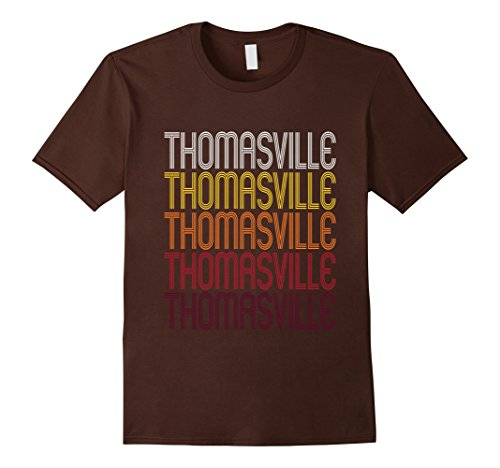 thomasville-nc-vintage-style-north-carolina-t-shirt-herren-grosse-m-braun
