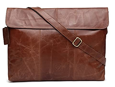 J WILSON London - Designer Véritable Vert Veg Tanned Crunch Leather 15