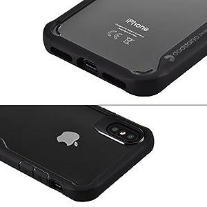 """Cassa del cellulare per Iphone X Con trasparente della copertura posteriore del PC TPU e Bordo telefono cellulare di copertura resistente al graffio e resistente agli urti per Apple 5.8"""" Iphone X Ipho"""