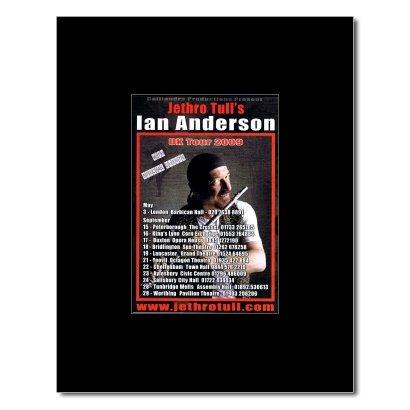 JETHRO TULL - UK Tour 2009 Matted Mini Poster - 13.5x10cm
