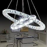 Saint Mossi Modern Circular Led Kristall Kronleuchter Verstellbare Hängeleuchte Tania Double Collection Zeitgenössische Decke Pendelleuchte H39'X D24'