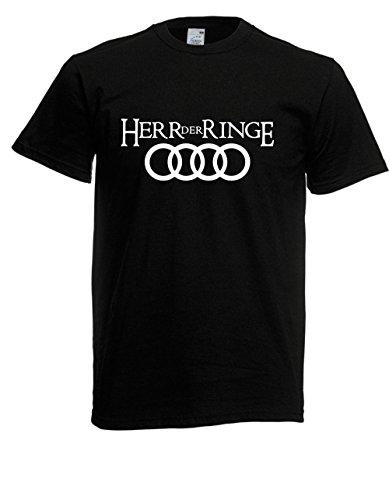 Textilmonster T-Hemd - Herr der Ringe (L, Schwarz)