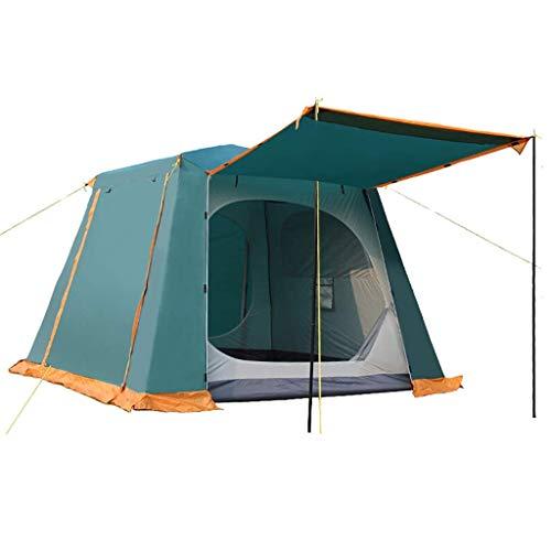 Outing Udstyr- Outdoor-Zelt 3-5 Familienzelt Multi-Personen-Doppelschicht-Camping Doppeltür Quadratisches Großes Zelt Starke Regenfeste Sonnencreme Vielfältige Belüftung Übergroßen Raum, Kejing Miao