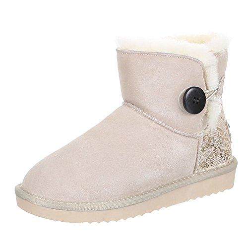 6955f43743e8 Damen Schuhe Boots Warm Gefütterte Wildleder Stiefeletten Beige Schwarz  Blau Braun 36 37 38 39 40