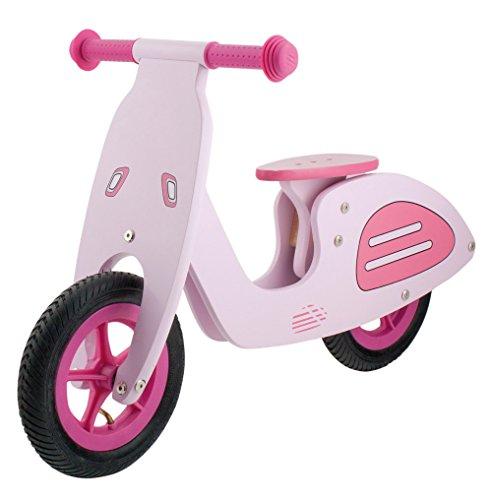 M-Wave Vespa Bicicleta Infantil de Madera, Rosa, 12 Pulgadas