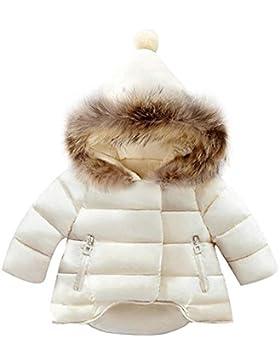BAINASIQI 2017 Niñas Bebés Abrigo Caliente Chaqueta de Piel Abrigo de Peluche Grueso de invierno