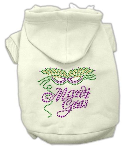 Mirage Pet Products Mardi Gras Rhein Ohrstecker Hoodies, creme, X-Large/Größe 16 (Mardi-gras-creme)