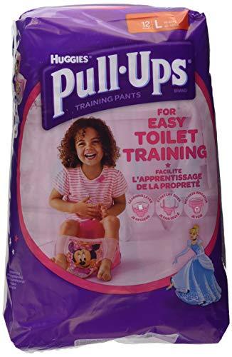 Huggies Pull-Ups Mutandine di Apprendimento per Bambina, Taglia L (16-23 kg) - 12 Pezzi