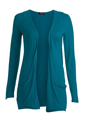 Fast Fashion -  Maglia a manica lunga  - Maniche lunghe  - Donna verde petrolio