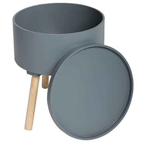 2-in-1-Kaffetisch-mit-integrierter-Aufbewahrungskiste-skandinavischer-Stil-Farbe-DUNKELGRAU