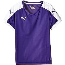 Puma - Maglietta sportiva -  ragazzo, bambini, T-Shirt Pitch Short Sleeve, Violet (Team Violet/White), 176 cm