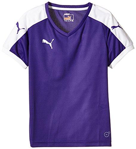 Puma Unisex-Kinder T-Shirt Pitch, Team Violet/White, Gr. 9-10 Jahre (Herstellergröße: 140) (Sport-shirt Jungen)