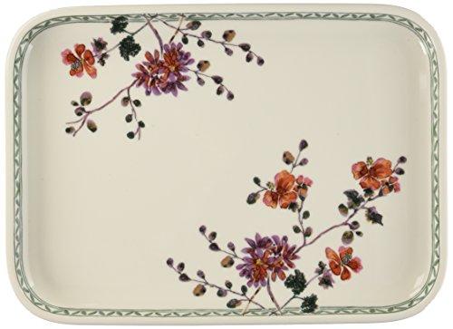 Villeroy & Boch Artesano Provençal Verdure Plat de service rectangulaire, 36 x 26 cm, Porcelaine Premium, Blanc/Multicolore