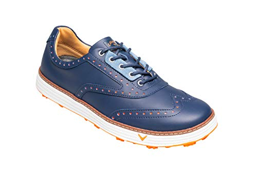 Callaway Herren Del Mar Retro Waterproof Spikeless Golfschuhe, Blau Navy, 43 EU