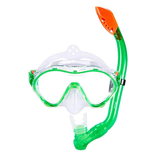 FEELING MALL Snorkel Set for Kids,Dry Top Snorkel Mask - Anti-Fog and Anti-Leak Easy for Children, Boys & Girls