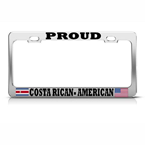 Moon Proud Kfz-Kennzeichenrahmen für Autos und Geländewagen, Costa Ricanischer Flaggen, perfekt für Männer und Frauen, Auto-Dekoration