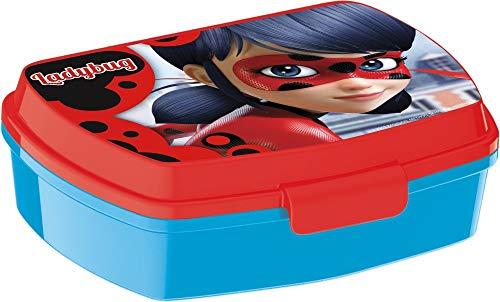 Little flight ladybug pappa scuola , pappa mare box portamerenda scuola box merenda plastica rigida (1 box portamerenda in plastica rigida)