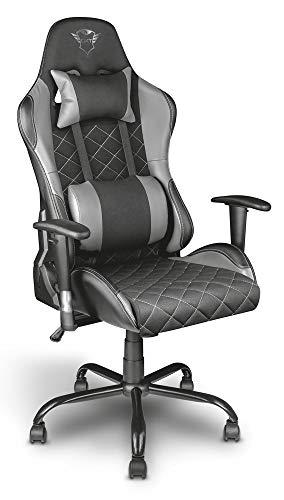 Trust GXT 707R Resto Gaming-Stuhl (Ergonomisch mit Höhenverstellbare Armlehnen) Gris