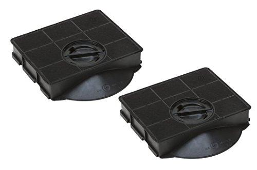 DREHFLEX - AK03-2 - Kohlefilter für Dunstabzugshaube - passt für AEG-Electrolux 9029793602 Bauknecht Whirlpool 484000008581 für Elica F00189/1 F00189/S E3CFE303 Type303 CHF303 FAT303 AMC895 AMC8959