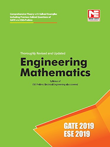 Engineering Mathematics for GATE & ESE (Prelims) 2019 - Theory & Previous Year Solved Questions Image