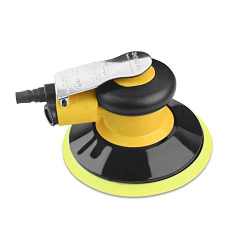 Neues Upgrade Exzenterschleifer Polierer Druckluft 150mm, Leerlaufdrehzahl:13000 RPM,Kleiner und leistungsfähiger Multifunktional Schleifer