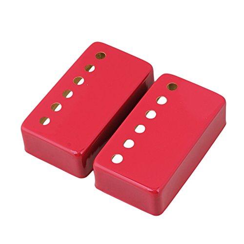 yibuy metallo collo e ponte chitarra Pickup Covers Set di 2, Red