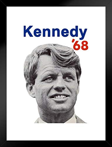 Bobby Poster Kennedy for President 1968, 30,5 x 45,7 cm 20x26 inches Matted Framed Poster -